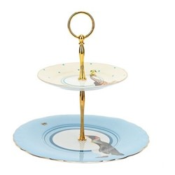2 tier cake stand H34 x D24cm