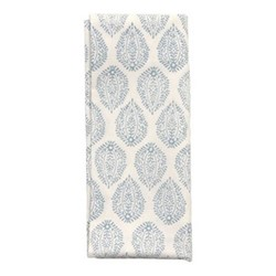 Leaf Set of 4 napkins, 45 x 45cm, blue cotton