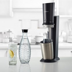 Crystal Sparkling water maker, H44 x W15.5 x D26.5cm, black