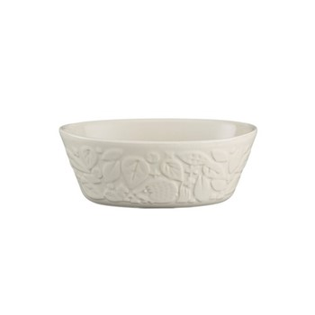 In The Forest Oval pie dish, 18cm, cream