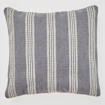 Henley Stripe Cushion, L45 x W45cm, clay