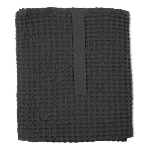 Waffle Towel and blanket, 150cm x 100cm, Dark Grey