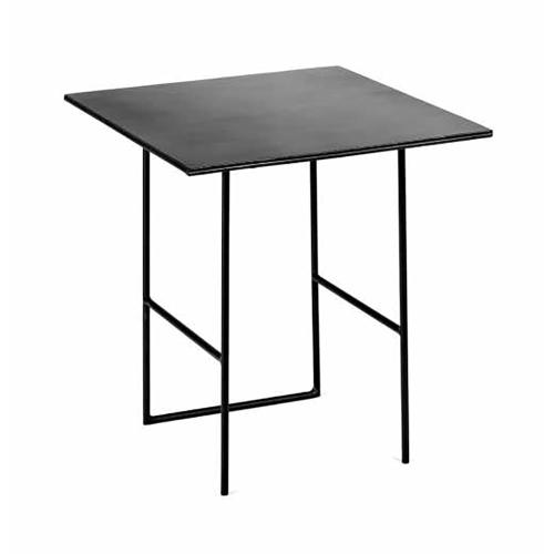 Metal Square side table, H36 x W35 x L38cm, Black
