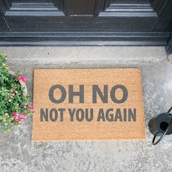 Not You Again Doormat, L60 x W40 x H1.5cm, grey