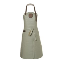 Ladies apron, medium, olive/grey