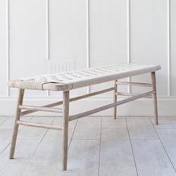 Kibo Wooden bench, L130 x W40 x H46cm, natural