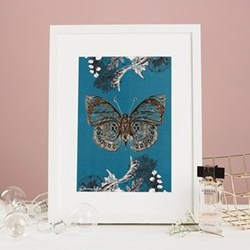 Butterfly Mounted print, 32.5 x 43cm, white frame