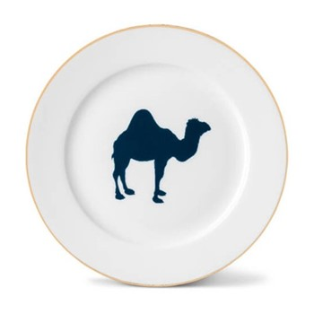Camel Side plate, 21cm, hand-painted gold rim