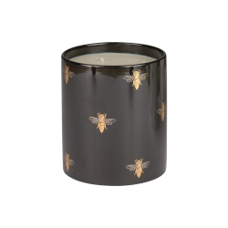 Bee Large candle, H18 x W15cm, Black