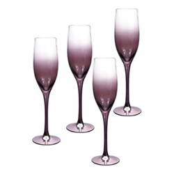 Kingsley Champagne flute, 24cl, plum