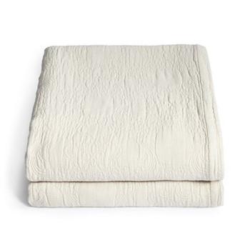 Lombard Matelassé blanket super king, oatmeal
