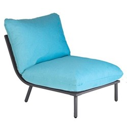 Beach Lounge middle seat, H63 x W70 x D98cm, flint/turquoise