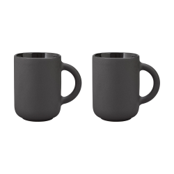 Theo by Francis Cayouette Pair of mugs, H11cm - 35cl, Black