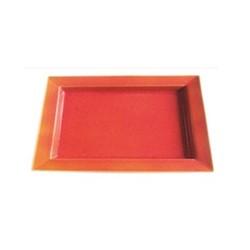 Tourron Natural Rectangular dish, 20 x 30cm, orange