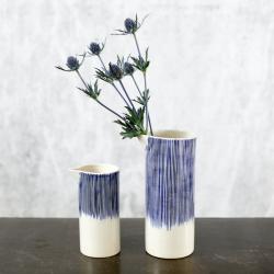 Karuma Small jug, H15.5 x D7.5cm, blue and white