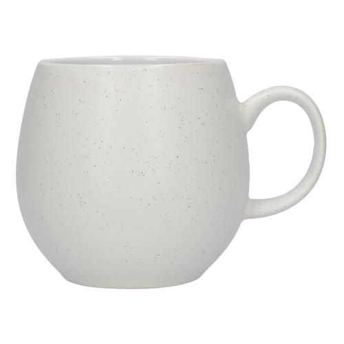 Pebble Mug, H9cm, Speckled White