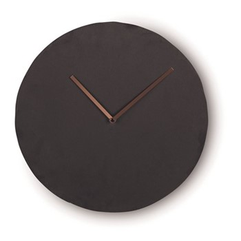 Miner Wall clock, W35 x H35 x D6cm, slate and copper