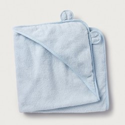 Boys bear hooded towel, Small, blue
