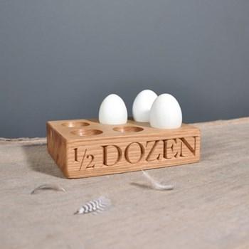 """1/2 Dozen"" Six egg rack, L18 x W12 x D4.5 cm"