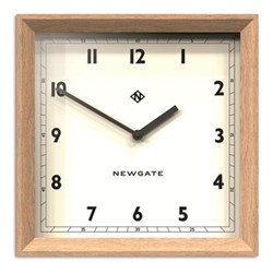 Old Joe Wall clock, 40 x 40 x 7cm, solid wood/light oak