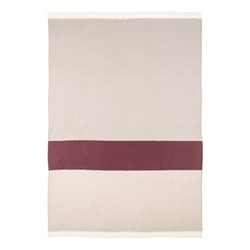 Colour Block Merino woven throw, 190 x 140cm, blush