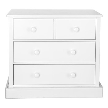 Charterhouse Chest of drawers, H81 x W91 x D52cm, silk white