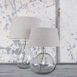 Baba Large tall glass lamp, H50 x D26cm, clear glass
