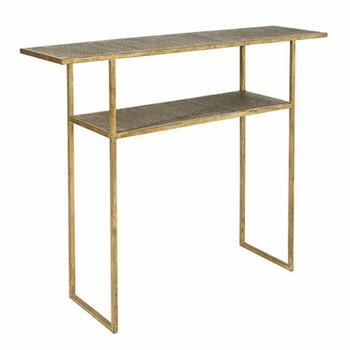 Baricella Console table, L27 x W100 x H80cm, rattan/gold