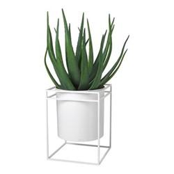 Pure Flower stand, H45 x W34 x L34cm, white