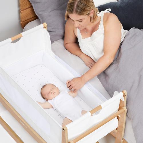 SnuzPod Bedside Crib, H49 x W95cm, Natural