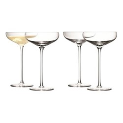 Wine Set of 4 Champagne saucers, 30cl, clear