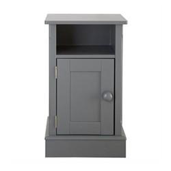 Charterhouse Bedside cabinet, H72 x W42 x D35cm, dark grey