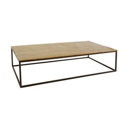 Hirst Coffee table, W130 x H29 x D69cm, gold/black