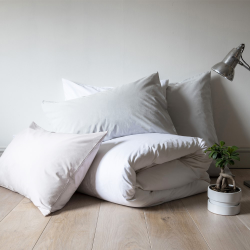 Classic Bedding Double fitted sheet, 135 x 190cm, Snow