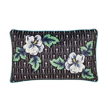 Gardenia Cushion, L50 x W30 x H10cm, black