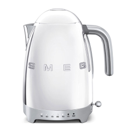 50's Retro Kettle with 7 temperature settings, 1.7 litres, Polished Stainless Steel