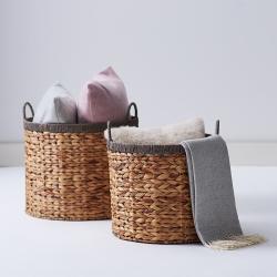 Northcote Set of 2 round baskets, Natural