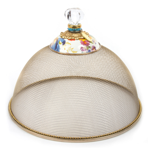 Flower Market Small mesh dome, 26cm, White