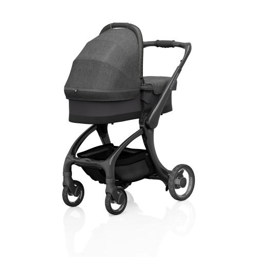 J-carbon Carrycot, Frost grey, H18 x W44 x L88cm, Grey