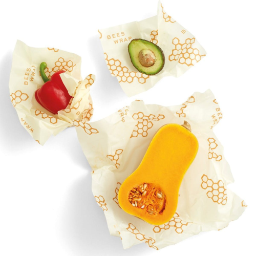 Bee's Wrap Print Pack of 3 food wraps, small/med/large