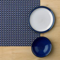 Imperial Blue Placemat, 44 x 29.5cm, Woven Vinyl