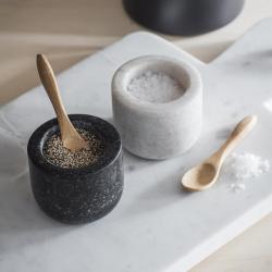 Brompton Salt and pepper pots, H5 x W6 x D6cm, Marble/Granite