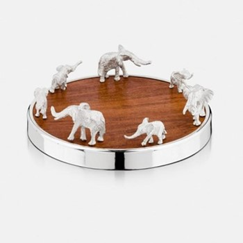 The Highland Safari Collection Coaster, D14 x H7cm, elephant