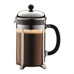 Chambord 12 cup coffee maker, 1.5  litre, silver/black