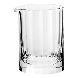 Fluted Water jug, H9 x D 6.5cm - 120ml, clear