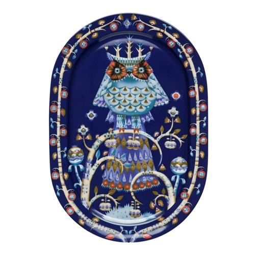 Taika Oval serving platter, 41cm, blue