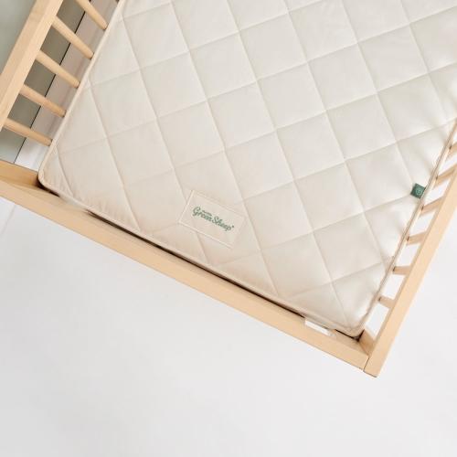 Natural Twist Cot mattress, H10 x W70 x L140cm, Natural
