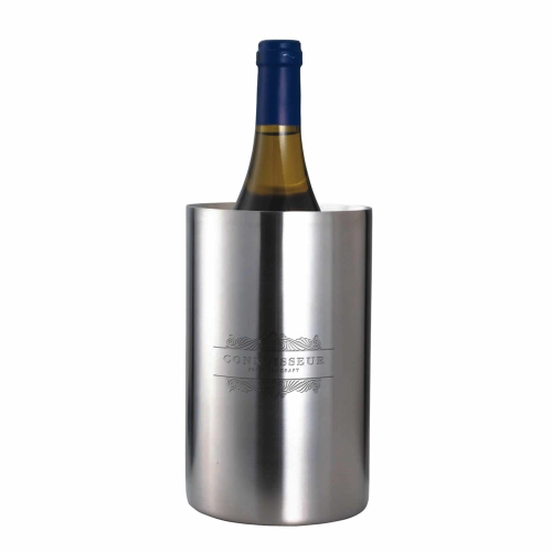 Double walled wine cooler, stainless steel