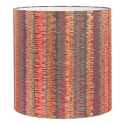 Textured Stripe Lampshade, 36 x 36cm, paprika/storm