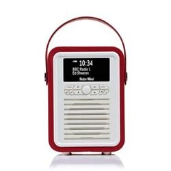 Retro Mini DAB radio, H22 x W15 x D10.5cm, red